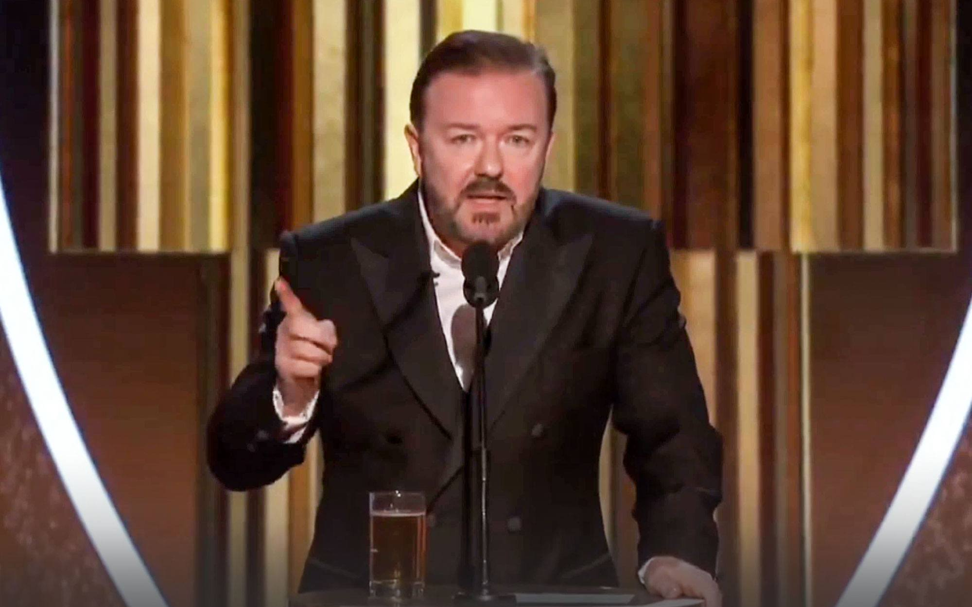 Ricky Gervais has one final message for Hollywood elites after Oscar ratings crash to lowest in history