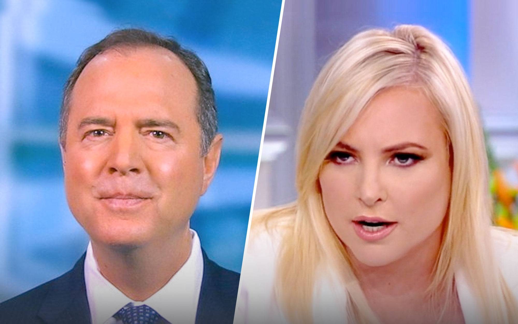 Meghan McCain And Adam Schiff Go At It On Impeachment On 'The View'