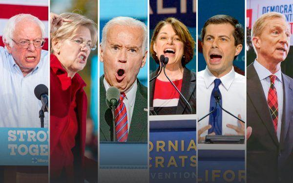 Joe Biden, Pete Buttigieg, Amy Klobuchar, Bernie Sanders, Elizabeth Warren, Tom Steyer