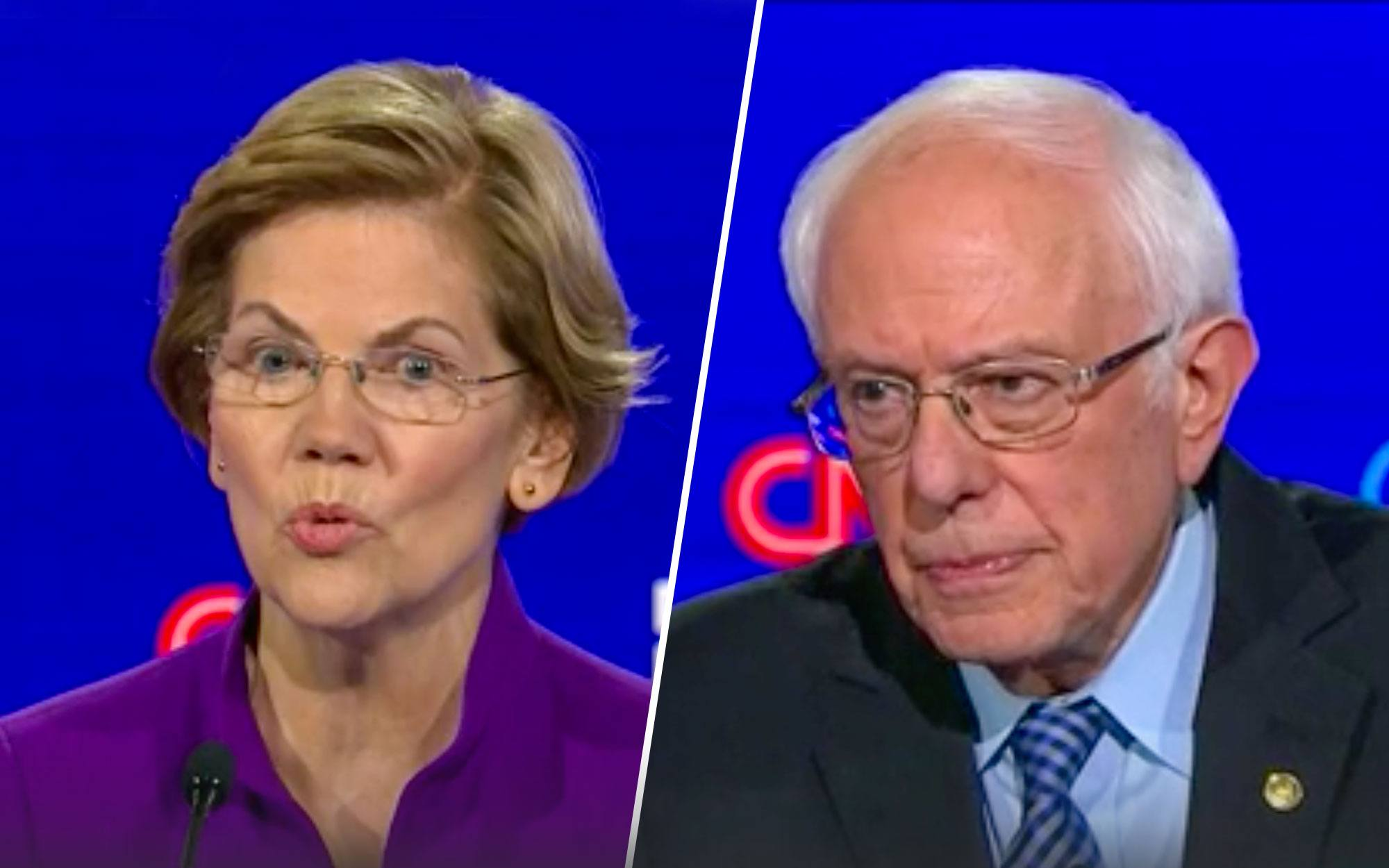 VIDEO: Warren and Sanders Battle It Out After Debate