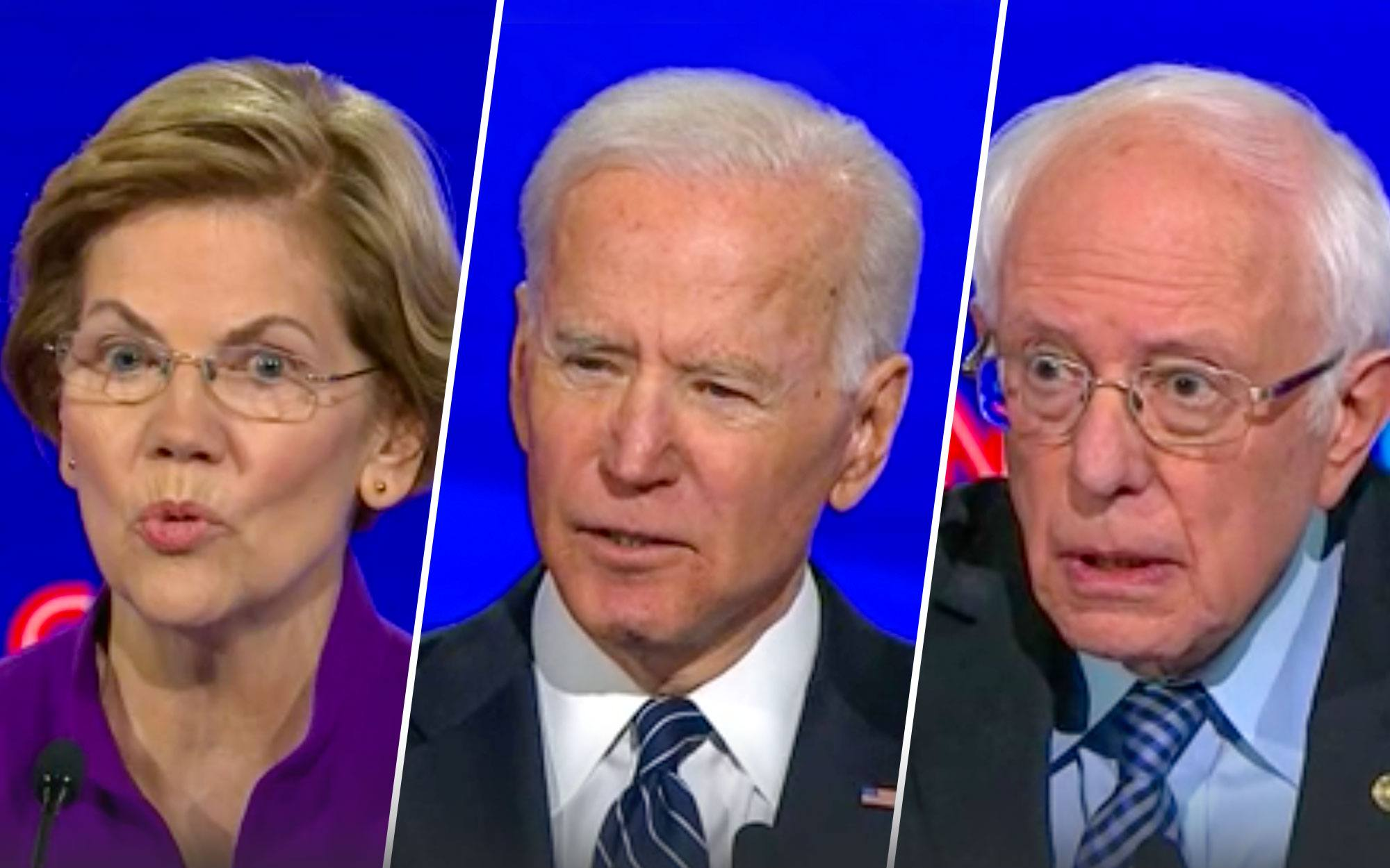 Sanders-Warren Tensions Flare at Democratic Debate, as Biden Fends Off Iraq War Attacks