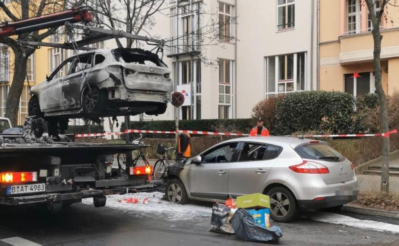 German Feminist Group Torches Pro-Life Journalist's Car