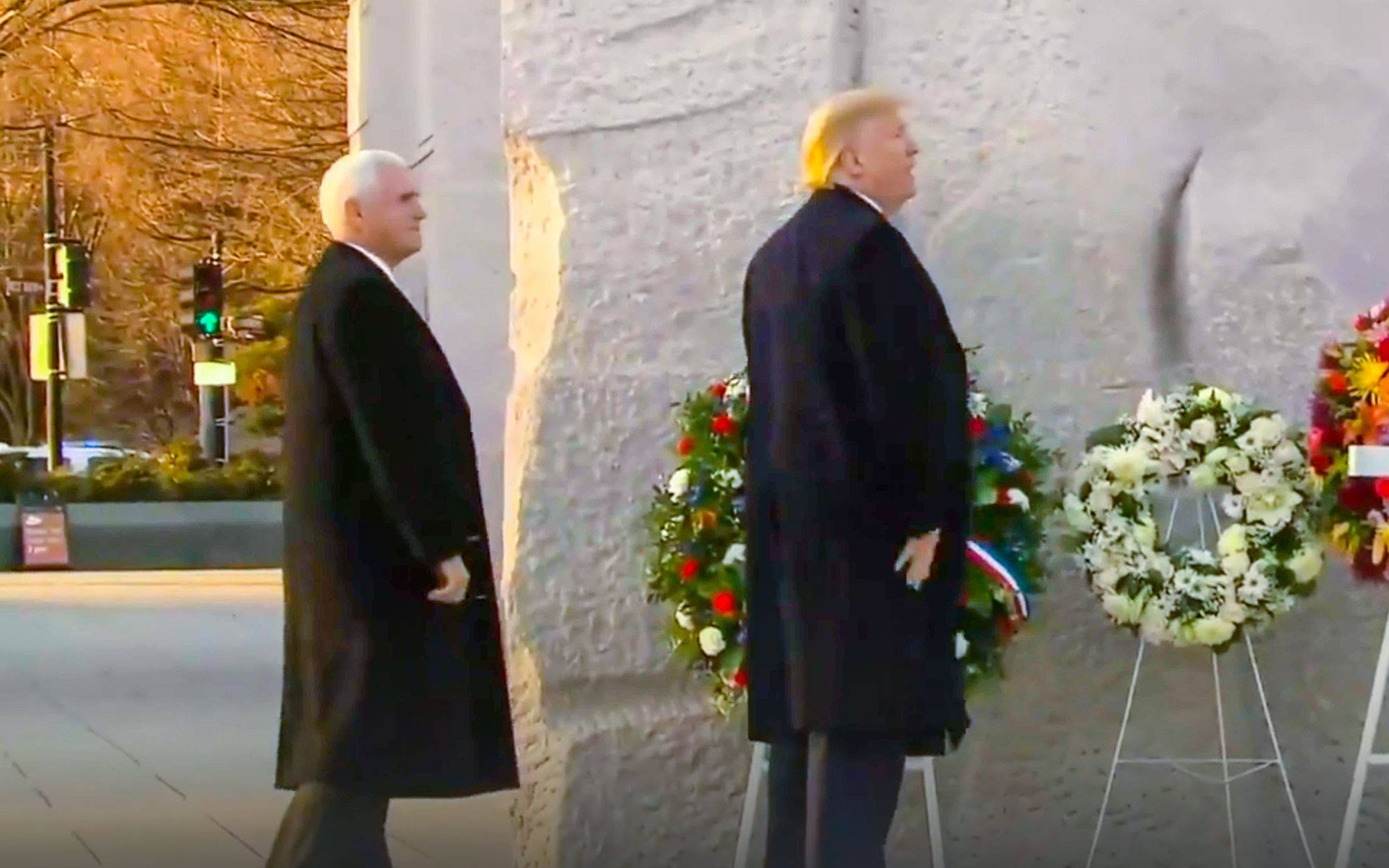 Liberals Shamelessly Boo President Trump and Vice President Pence During Visit to MLK Memorial