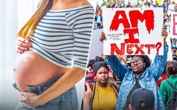 Pregnant Woman and March for Life