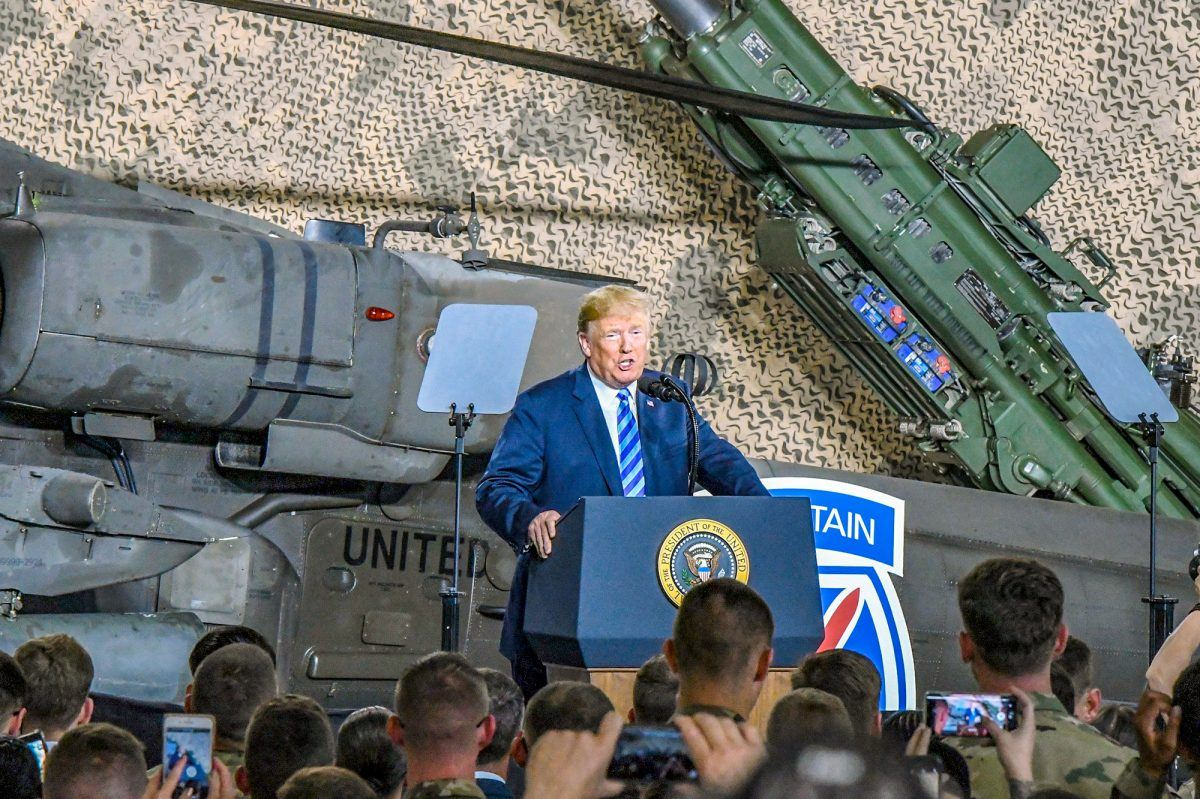 President Donald J. Trump speaks to service members at Fort Drum, N.Y., Aug. 13, 2018. DoD photo by Michael Strasser