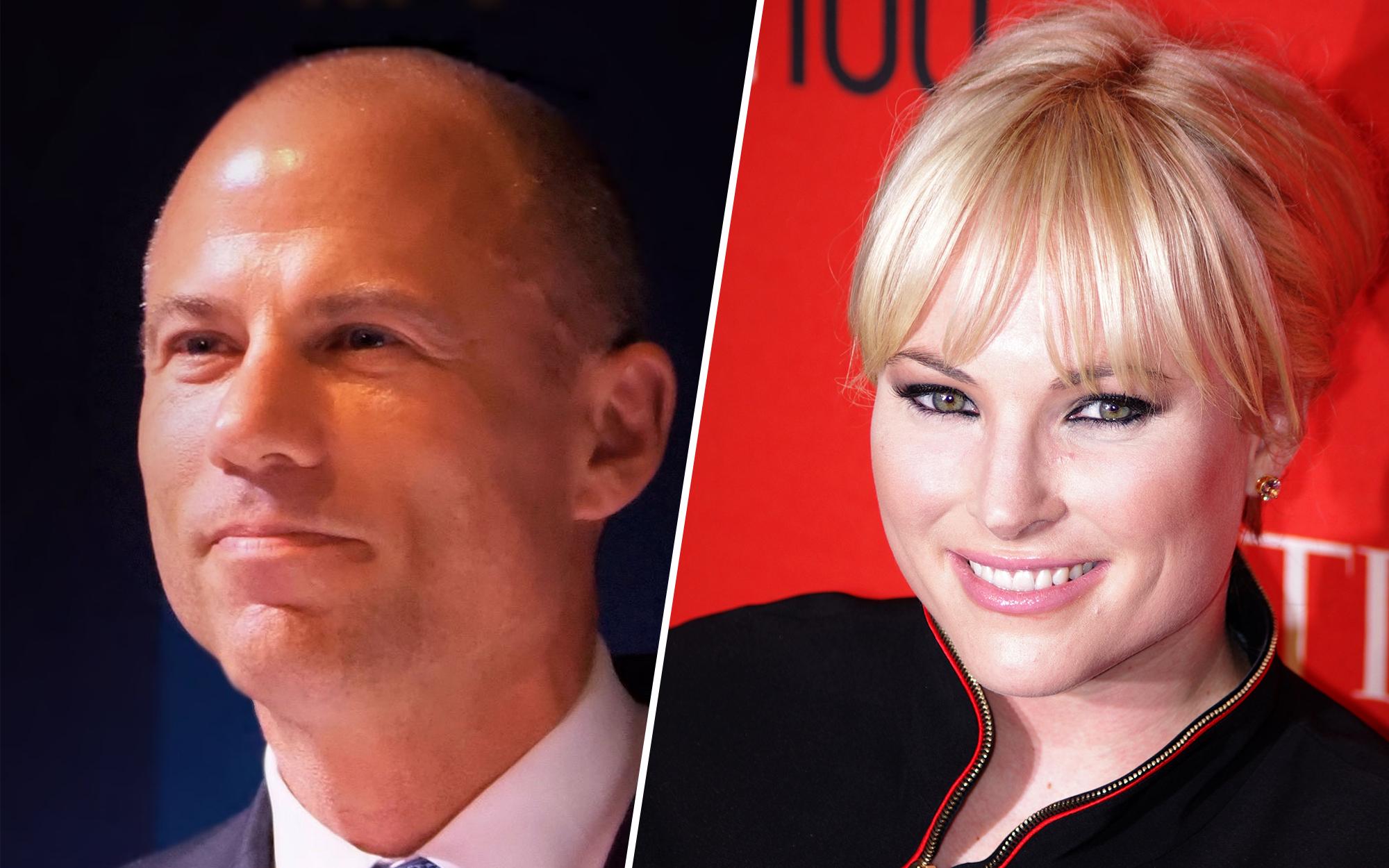 Meghan McCain looks nauseated when Avenatti says 'all of my sexual fantasies involve handcuffs'