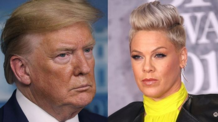 Pink debases 'MAGA'—believes it's un-American to support Donald Trump