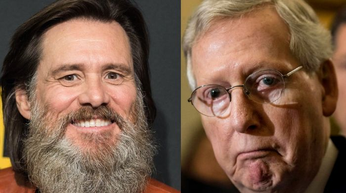Jim Carrey threatens Mitch McConnell with grotesque cartoon: Says he'll 'be mowed down'