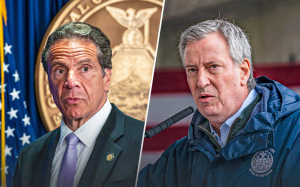 Governor Andrew Cuomo and Mayor Bill de Blasio