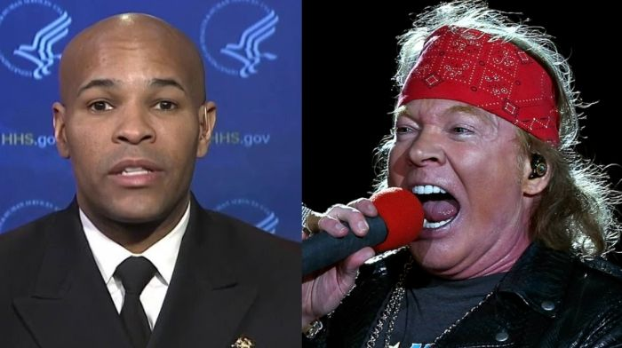 Axl Rose launches unhinged attack on 'piece of sh*t' Surgeon General Jerome Adams: Demands that he resign